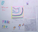 Some thank-you notes from kids